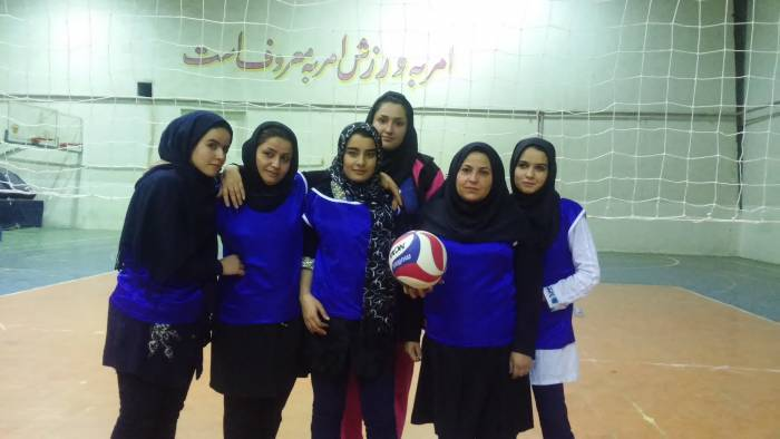 تیم های والیبال بانوان جام رمضان شهرستان کوهبنان