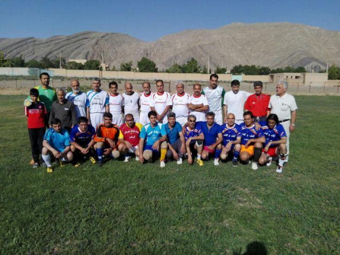 بازی دوستانه فوتبال پیشکسوتان کوهبنان و کرمان