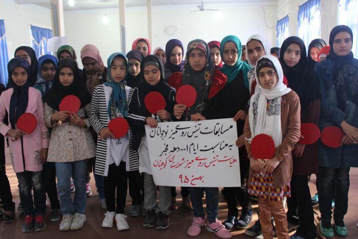 مسابقات تنیس روی میز دختران نوجوان