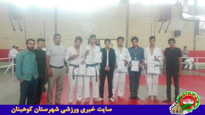 شرکت تیم جودوی شهرستان در مسابقات بسیج استان در رده سنی نوجوانان