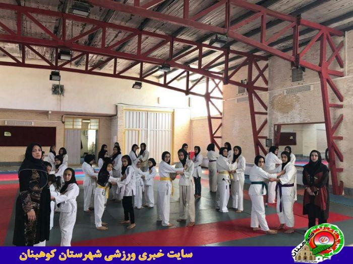برگزاری کلاس استاژ جودو بانوان شهرستان کوهبنان