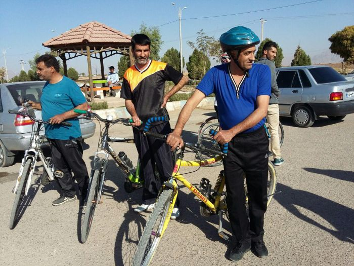 اعزام تیم دوچرخه سواری پیشکسوتان شهرستان کوهبنان به کرمان  برای انتخابی کشوری+تصاویر