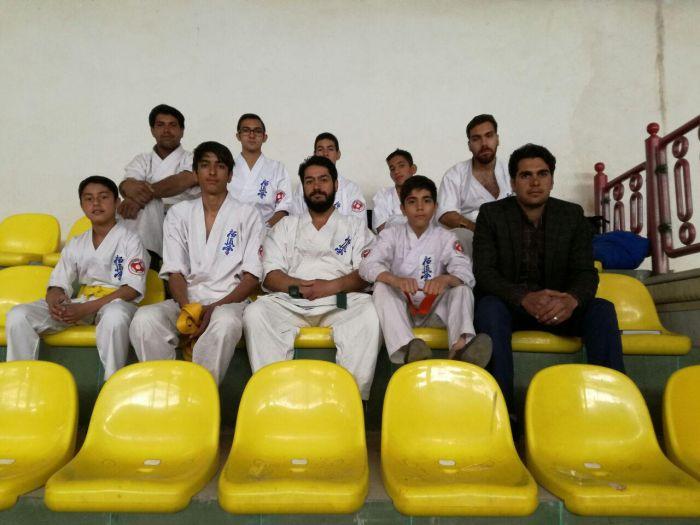 مسابقات کاراته سبک کیوکوشین به میزبانی شهرستان زرند