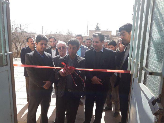 افتتاح خانه ورزش روستایی دهستان خرمدشت شهرستان کوهبنان به مناسبت دهه فجر