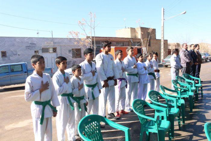 مراسم روز درخت کاری باحضور فعال ورزشکاران جودو کار شهرستان کوهبنان برگزارشد