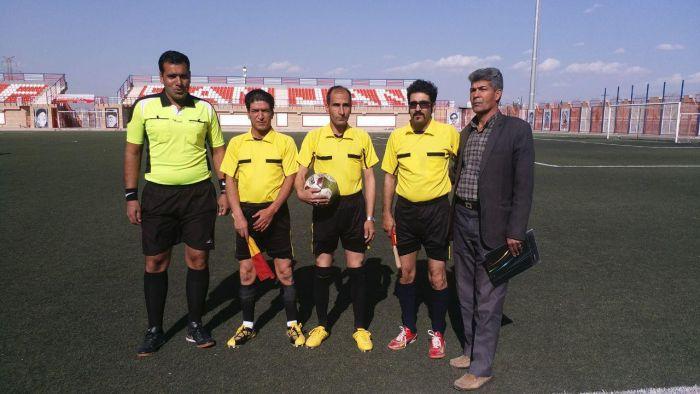 دومین قضاوت تیم داوری شهرستان کوهبنان در بازی های فوتبال لیگ یک استان