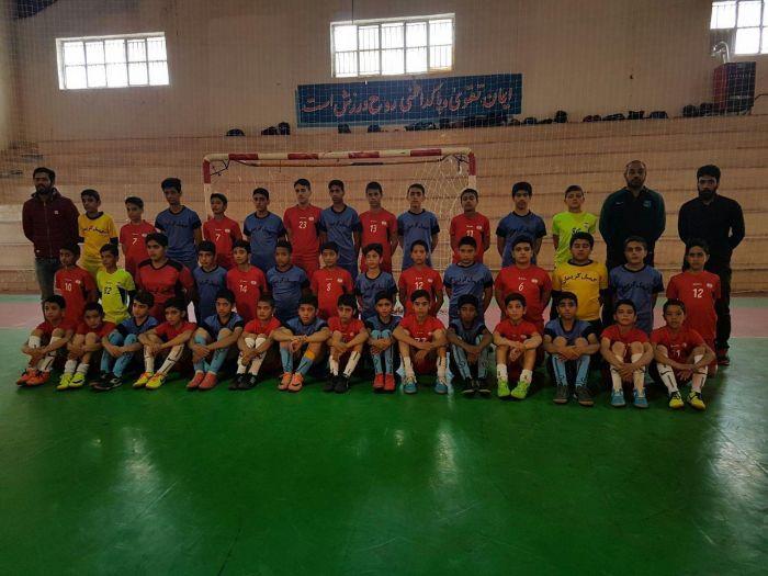 مسابقات تدارکاتی تیم های مدرسه فوتسال نشاط شهرستان کوهبنان