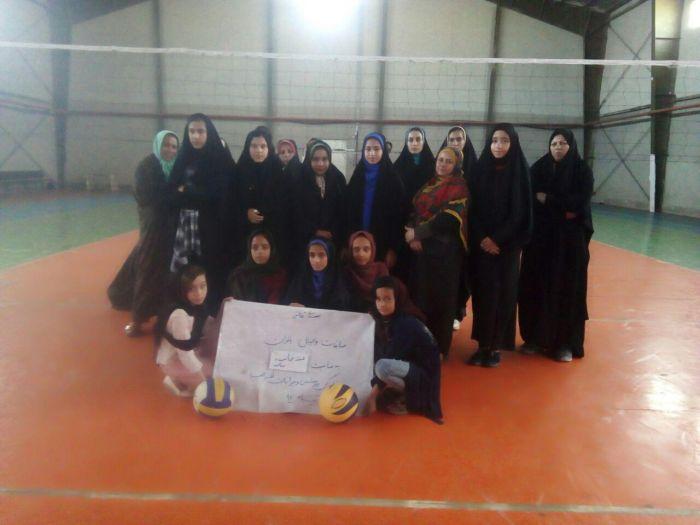 مسابقات والیبال بانوان بخش به مناسبت هفته حجاب وعفاف
