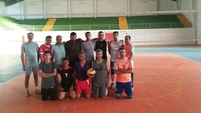 دردیداری دوستانه تیم والیبال پیشکسوتان شهرستان کوهبنان
