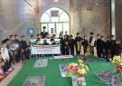 گل افشانی قبور شهدای گمنام شهرستان کوهبنان توسط ورزشکاران به مناسبت هفته تربیت بدنی و ورزش مهرماه ۹۷
