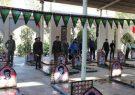 گل افشانی قبور شهدای بخش طغرالجرد شهرستان کوهبنان
