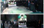 عطر افشانی قبورشهدای گمنام توسط دختران نوجوان ورزشکار شهرستان کوهبنان به مناسبت چهلمین سالگرد انقلاب اسلامی