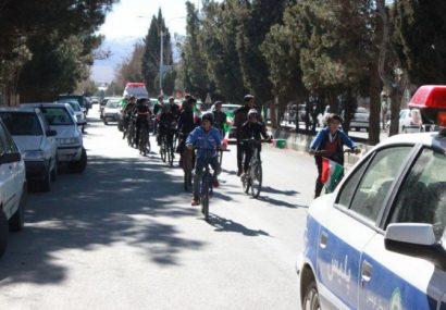 همایش دوچرخه سواری نوجوانان شهرستان کوهبنان