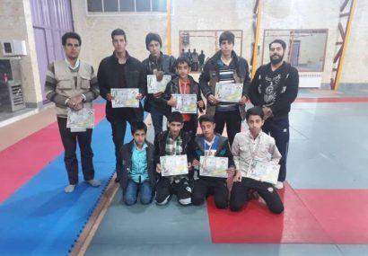 ♦️یک طلا،۲نقره و۴برنز حاصل کاراته کاران شهرستان کوهبنان در مسابقات استانی