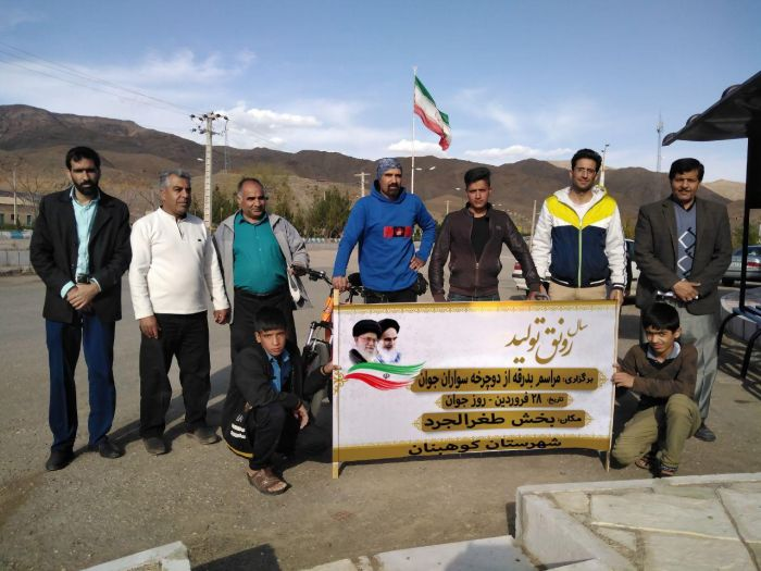 بدرقه دوچرخه سواران جوان بخش طغرالجرد شهرستان کوهبنان