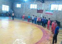 تمرین کشتی نوجوانان بخش طغرالجرد شهرستان کوهبنان