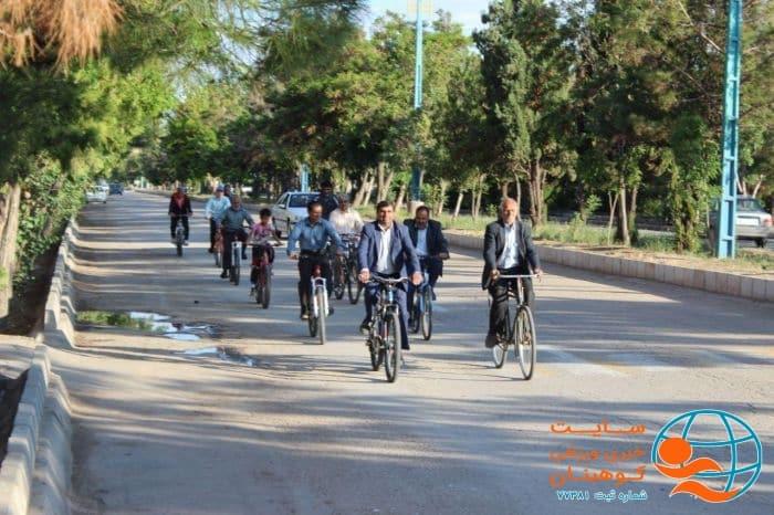 همایش دوچرخه سواری همگانی شهرستان کوهبنان به مناسبت تکریم رمضان با ورزش و آزاد سازی خرمشهر