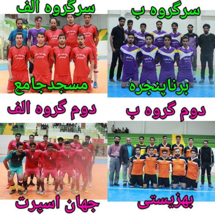 تیم های صعود کننده به مرحله نیمه نهایی مسابقات فوتسال جام تکریم رمضان
