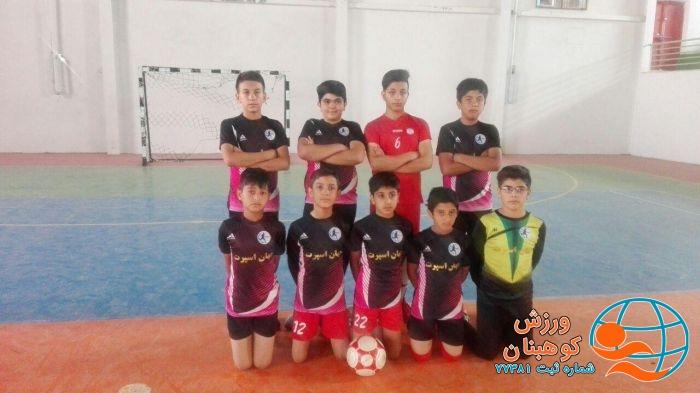 بازماندن تیم فوتسال نونهالان شهرستان کوهبنان از مسابقات فوتسال لیگ دسته اول استان
