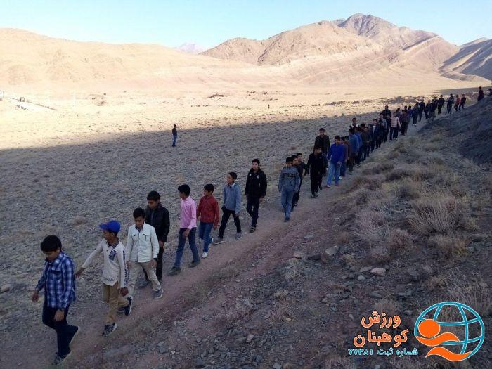 📌همایش کوهپیمایی نوجوانان شهرستان کوهبنان به مناسبت هفته تربیت بدنی