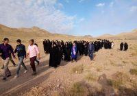 ?همایش پیاده روی خانوادگی روستا به روستای شهرستان کوهبنان