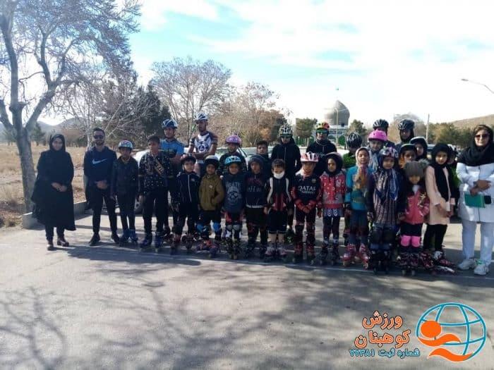 برگزاری مسابقات اسکیت سرعت ویژه نونهالان دختر و پسر شهرستان