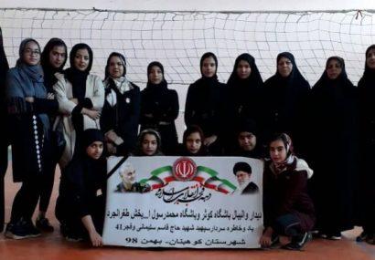 دیدار دوستانه والیبالیست های باشگاه کوثر کوهبنان و باشگاه محمدرسول الله (ص)
