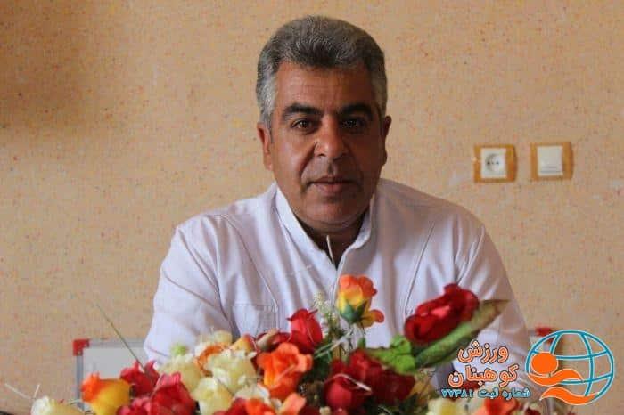 پیام تقدیر منصور جعفری نژادکوهبنانی سرپرست سابق اداره ورزش و جوانان شهرستان کوهبنان