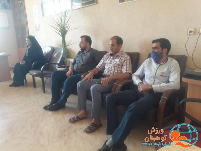 دیدار رئیس واعضای هیئت فوتبال شهرستان کوهبنان