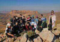 برنامه مشترک هیات کوهنوری کوهبنان و گروه ستاره کویر زرند – صعود به کوه سرخ منظقه پابدانا جمعه ۱۰/۱۱/۹۹