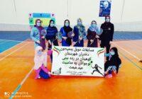 مسابقات دوبل بدمینتون دختران شهرستان کوهبنان در رده سنی نوجوانان به مناسبت عید مبعث برگزار شد،
