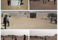 مسابقات هفت سنگ نونهالان روستای ده خواجه شهرستان کوهبنان به مناسبت نوروز ۱۴۰۰