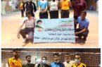 مسابقه والیبال بین تیم جانبازان و ایثارگران و تیم پاسداران شهرستان کوهبنانر