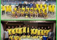 شرکت محمودحسین زاده و حسین زارعی در دوره دانش افزایی مربیان فوتبال ساحلی استان کرمان