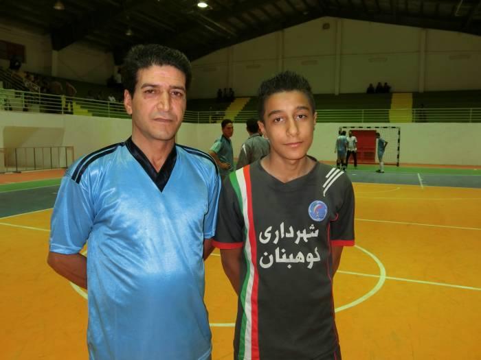 مسن ترین و جوان ترین بازیکنان مسابقات فوتسال جام رمضان شهرستان کوهبنان