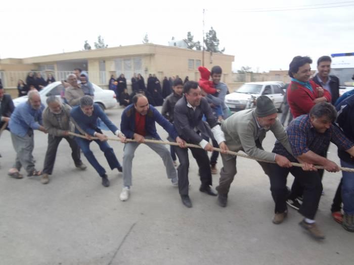 مسابقات طناب کشی روستای ده علی کوهبنان