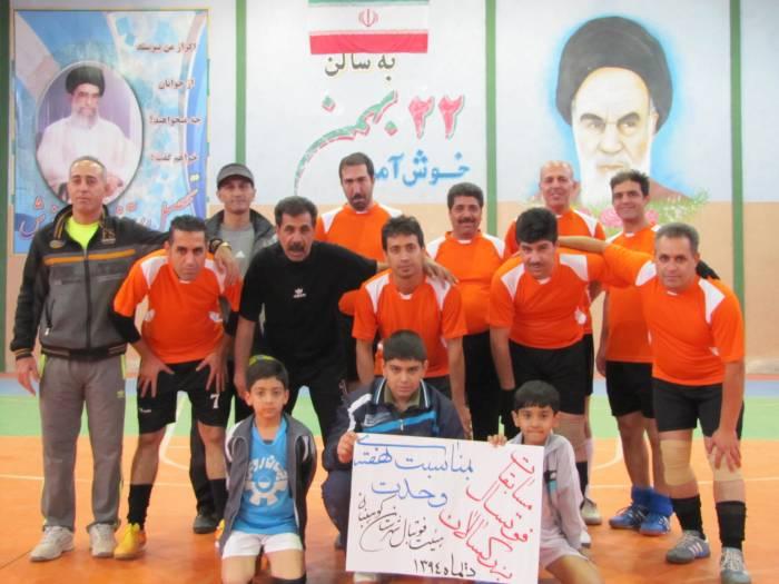 مسابقات فوتسال جام هفته وحدت با قهرمانی تیم اموزش و پرورش به پایان رسید